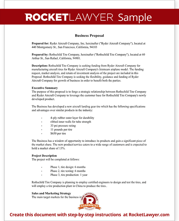 Sample Business Proposal Template News