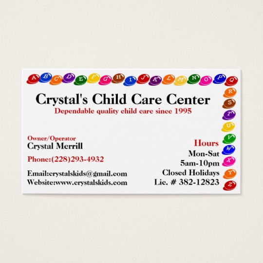 Childcare Business Cards News